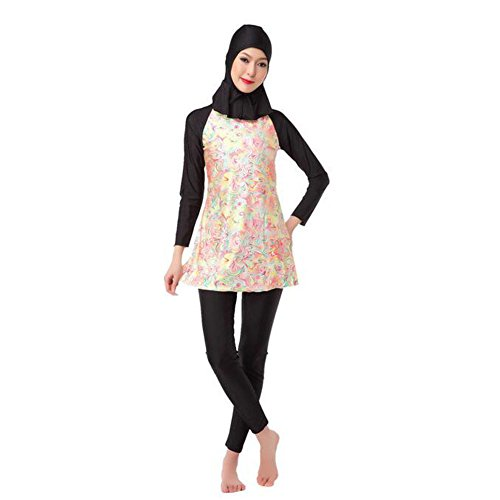 Meijunter Muslim Burkini 3-Pieces Swimsuit Islamic Arab ...