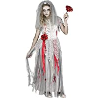 Fun World Zombie Bride Disfraz Niñas Mediano