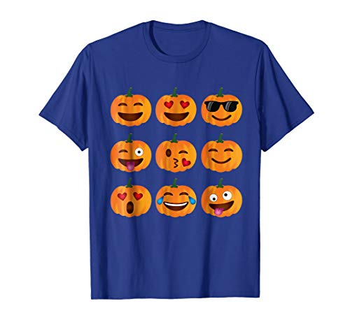 Pumpkin Emoji T-Shirt, Pumpkin Shirt Emoji Halloween Costume ()