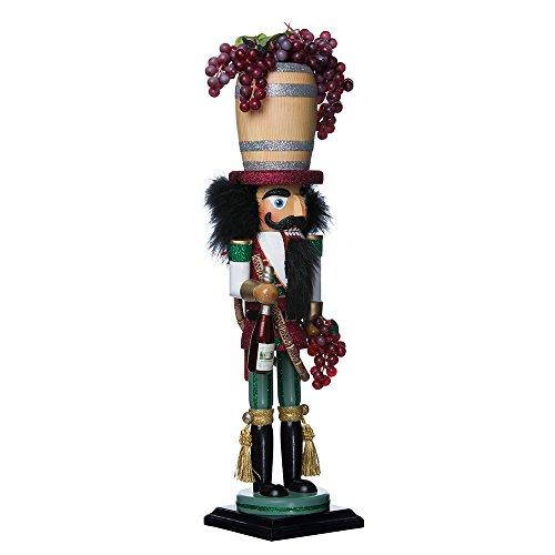 "Kurt Adler 18.9"" Hollywood Wine Barrel Hat Nutcracker"