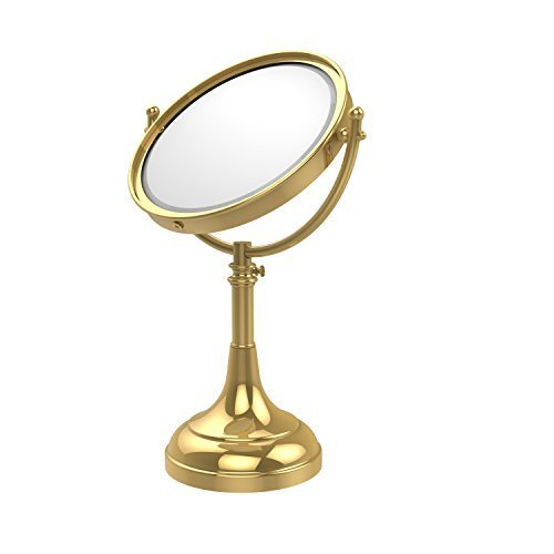 Allied Brass DM-1/5X-PB 8-Inch Table Mirror with 5x Magnification, Polished Brass by Allied Brass by Allied Precision Industries