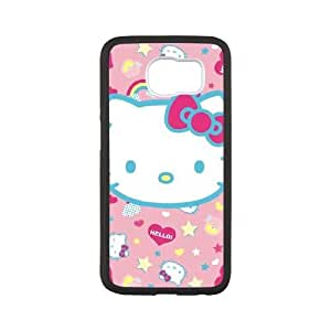Hello Kitty Pink, Hearts & Rainbows Samsung Galaxy S6 Cell Phone Case White toy pxf005_5753617
