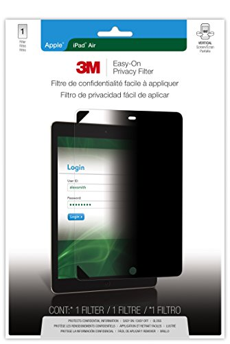 3M Privacy Screen Protectors Easy-On Privacy Screen Protector for Apple iPad Air & iPad Air 2 - Portrait (MPF830505)