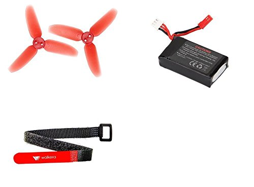 01 Main Rotor Blade - [QTY: 1] Rodeo 110-Z-21 Li-Po Battery 7.4V 850mAh 25C 2S 2 Cell Power Pack Lithium Polymer Fuel Source [QTY: 1] 110-Z-01 Three Blade Propellers Props Main Rotor Blades Parts 70mm Diameter [QTY: 1] 110