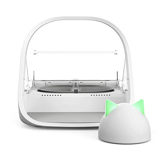 SureFeed Microchip Pet Feeder Connect with Hub - WiFi Link and App Controlled, White (4 x C Batteries Required)