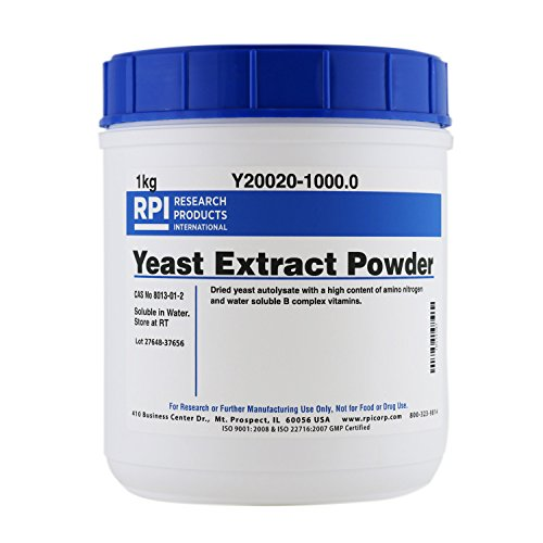 RPI Yeast Extract, Powder, 1 Kilogram, Low NaCl, for Tissue Culture