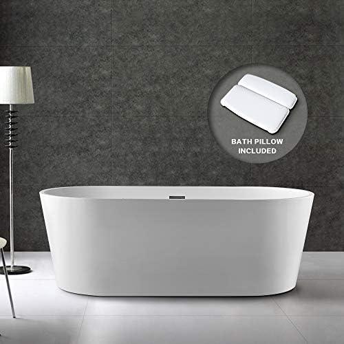 BATH MASTER Freestanding Bathtub Acrylic Bathroom Soaking Tub