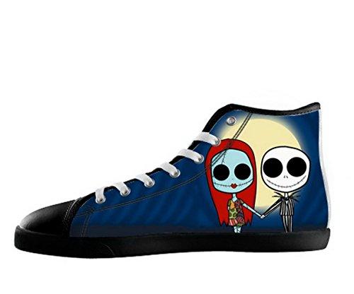 The Nightmare Before Christmas Logo Hombre Nonslip Negro High Top Zapatos Tnbc Canvas Zapatos02