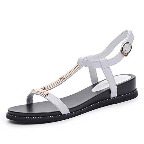 dba921c1 Temperamento Y Moda, Sandalias Cómodas De Roma, Fondo Plano De Mujer, Moda  Simple