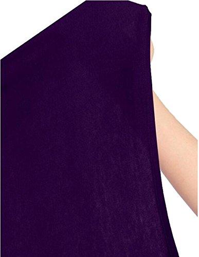 LemonGirl Womens Long Sleeve Irregular Hem Pocket Cardigan Tops Sizes 34-48 Purple