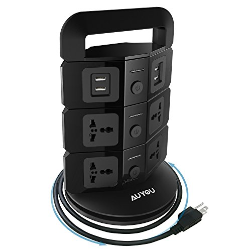 auyou-tower-power-strip-vertical-outlet-handy-space-saving-socket-matching-wall-outlet-with-7-outlet