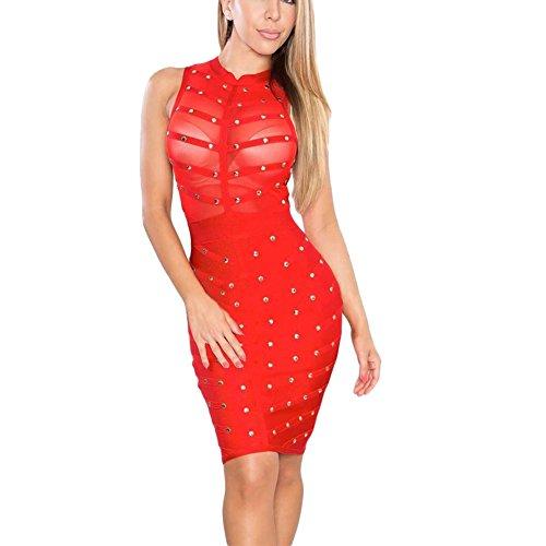 Sheer Embellished Party Dress - 8