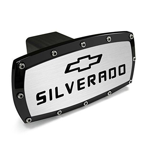 CarBeyondStore Chevrolet Silverado Black Trim Billet Aluminum Tow Hitch Cover