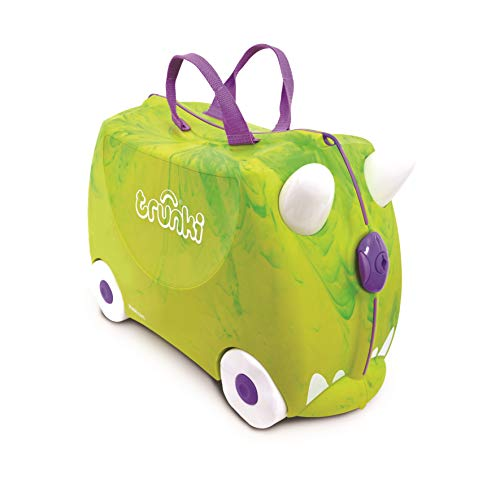 Trunki Original Kids Ride-On Suitcase and Carry-On Luggage - Trunkisauras Rex (Green)]()