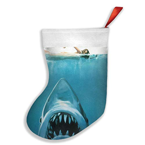 - PO1 UP Great White Shark Jaws Christmas Stockings