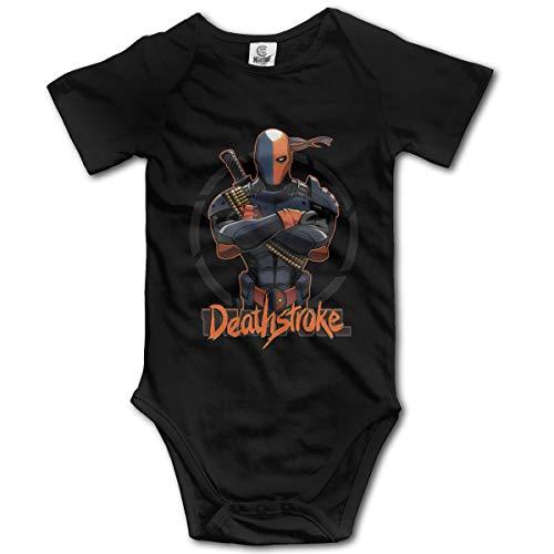 Eppedtul Deathstroke 0M-2t Unisex Kids Short-Sleeve Baby Onesie Black -