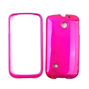 Cell Armor Shiny Hard Snap-On Case for Huawei Ascend II M865 - Honey Hot Pink