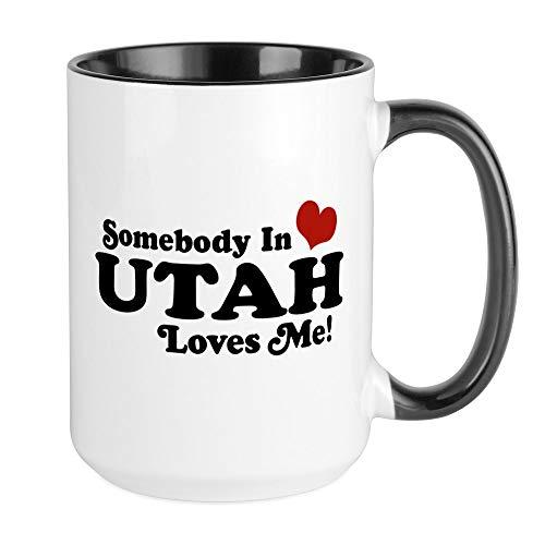 CafePress Somebody In Utah Loves Me Large Mug Coffee Mug, Large 15 oz. White Coffee Cup