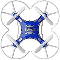 Mini Micro Pocket Drone 4CH 6Axis Gyro With Switchable Controller,Headless Mode, One Key Return RTF RC helicopter Kids Toys FQ777-124 Blue