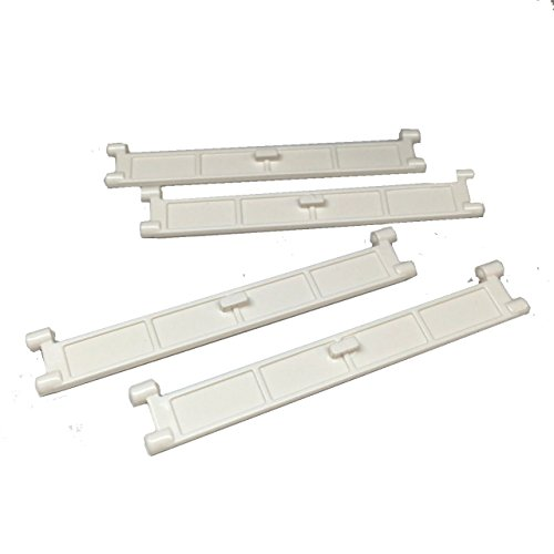 Lego-Parts-City-Garage-Roller-Door-Section-with-Handle-Service-Pack-of-4-White