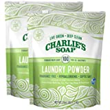 Charlie's Soap Laundry Powder (100 Loads, 2 Pack) Hypoallergenic Deep Cleaning Washing Powder Detergent – Eco-Friendly…