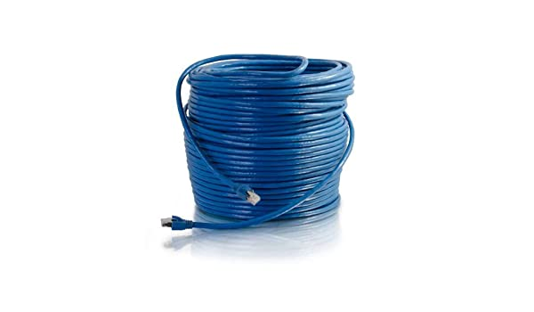 Amazon.com: / Cables to Go 43124 Cat6 Snagless Solid Red blindado Cable Patch, Azul (300 pies / 91,44 metros): Electronics