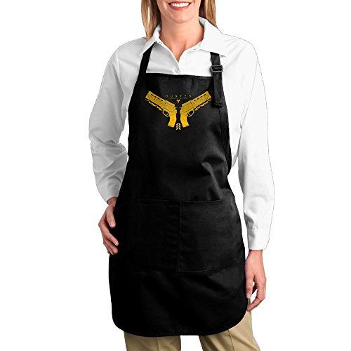 [FUNNY MOPAD Destiny Hunter Gunslinger Logo Kitchen Apron With Front Pockets] (Woman Gunslinger Costume)
