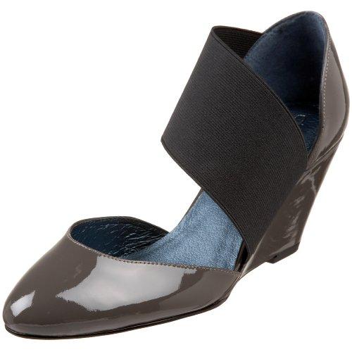 daniblack Women's Cradle Wedge Pump,Grey,8 M US Daniblack Ladies Shoes