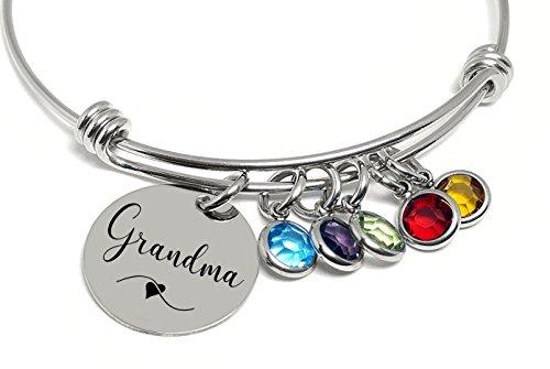 Grams Heart Bracelets - Personalized Bracelet - Gift For Grandma Mom - ANY NAME - Nana Aunt Mimi