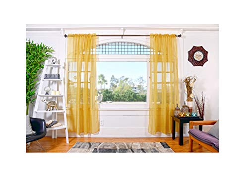 - All American Collection Doli Sheer Curtains | Two 108