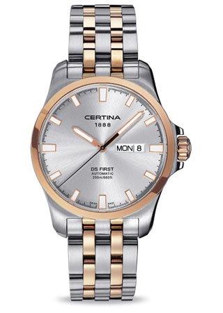 Certina - Reloj Analógico de Automático para Hombre, correa de Acero inoxidable color: Amazon.es: Relojes