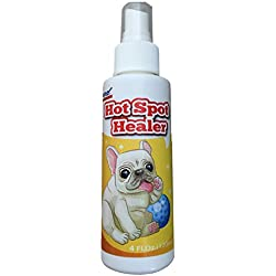 Hot Spot Healer - Natural Hot Spot Relief Spray for Dogs 4oz - Anti-Bacterial Dog Skin Remedy for Infection Causing Yeast, Fungus & Bacteria