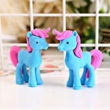 Mustwell 3pcs/Lot Unicorn Eraser Novelty Trojan Horse Erasers For Correction Kids Learning Tools Stationery Office School Supplies