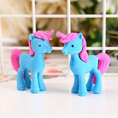 Mustwell 3pcs/Lot Unicorn Eraser Novelty Trojan Horse Erasers For Correction Kids Learning Tools Stationery Office School Supplies by Mustwell (Image #4)