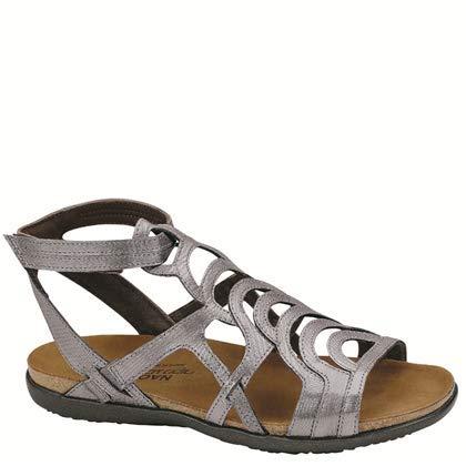 Naot Women's Sara Gladiator Sandal, Silver, 41 EU/10 M US