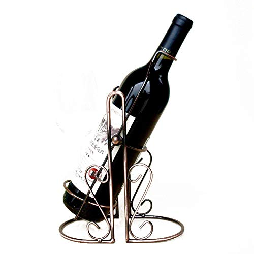 DCRYWRX Wrought Iron Wine Rack, Creative Metal Swing Wine Rack, Wine Bottle Decoration Display Rack Home Decoration Indoor Wine Rack Crafts