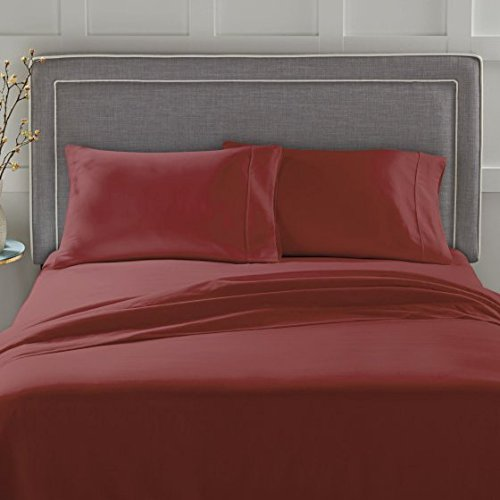 (Better Homes and Gardens 300 Thread Count Sheet Collection Queen, Rose Wine)