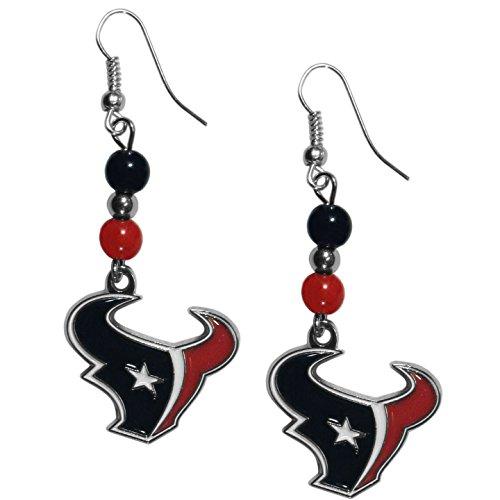 NFL Houston Texans Fan Bead Dangle Earrings