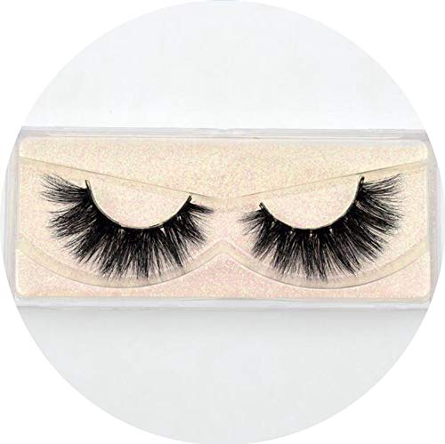 Mink Eyelashes Hand Made Crisscross False Eyelashes Cruelty Free Dramatic 3D Mink Lashes Long Lasting Faux Cils for Makeup Tools,Peony red E04 ()