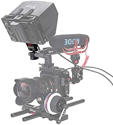 """N54-D2 Nitze Monitor Holder Mount (1//4/""""-20 Screw /& ARRI Locing pins) with 15mm Rod Clamp"""
