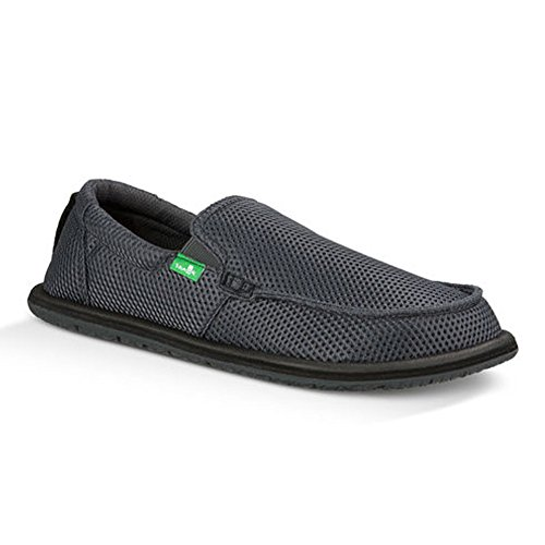 Sanuk Mens Trailgater Mesh Loafer Charcoal Mesh