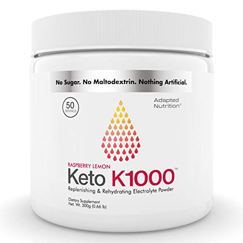Keto K1000 Electrolyte Powder | Boost Energy & Beat Leg Cramps | No Maltodextrin or Sugar | Raspberry Lemon | 50 Servings (Best Drink For Electrolyte Imbalance)