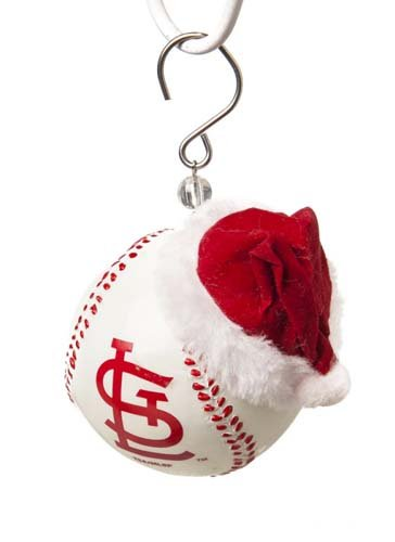 MLB Ball Ornament - Cardinals Hand Painted Ball Ornament