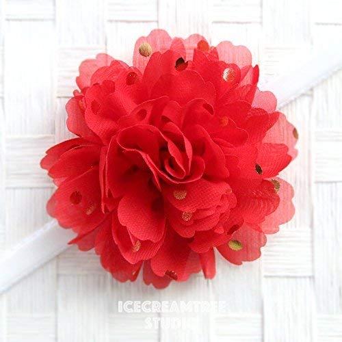(Jumbo Gold Foil Dot Bloom Collar Slide On, Flower Collar Accessories, Corsage Accessories, Collar Add On, Collar Flower -)