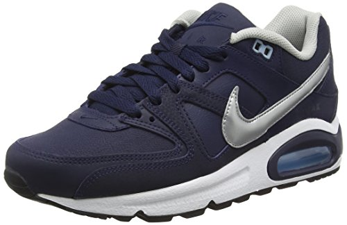 Running NIKE Leather White Max Scarpe Metallic Silver 401 Bluecap Uomo Obsidian Blu Air Command twwRraqX