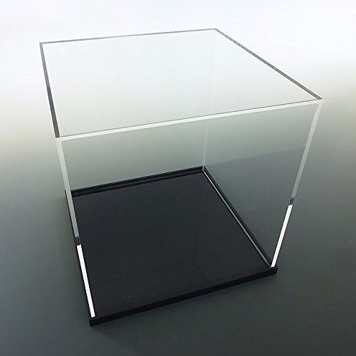【台座 = 落とし込みタイプ 黒 10mm】 UVカット透明アクリルケース W450mm H450mm D300mm B01EC067EG W450mm H450mm D300mm  W450mm H450mm D300mm
