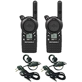Sale 2 Pack of Motorola CLS1110 Two Way Radio Walkie Talkies with Headsets