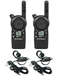 2 unidades de Motorola cls1110 Two Way Radio Walkie Talkies Con Auriculares