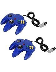 2x QUMOX Jeux Controleur Joystick manette pour Nintendo 64 N64 System GamePad Bleu
