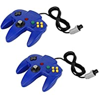 QUMOX 2X Game Controller Joystick for Nintendo 64 N64 System GamePad Blue